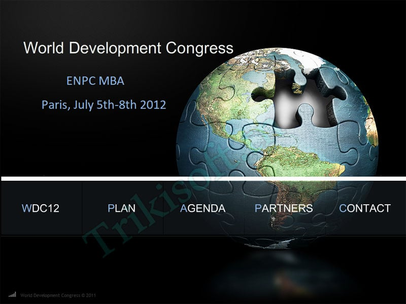 Site web World Development Congress – Paris 2012