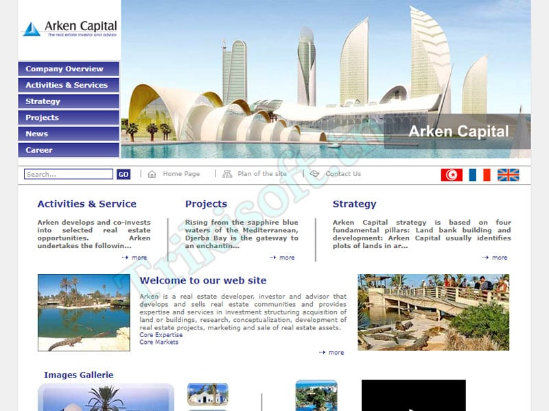 Site web Arken Capital